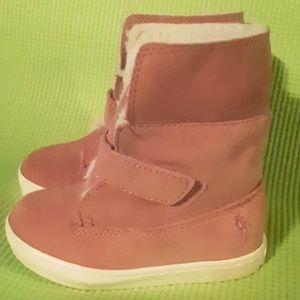 Little girls Ralph Lauren Siena suede boot size 7